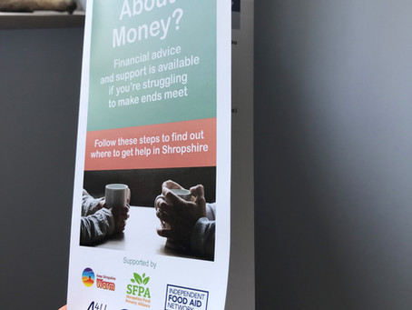 'Cash first' solutions to food insecurity: a new leaflet for Shropshire