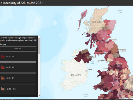 New map shows patterns of food insecurity in the UK