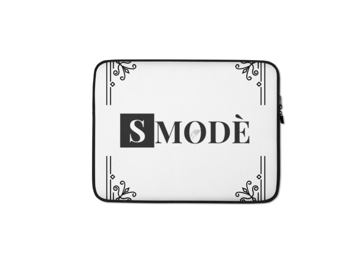 WHITE AND BLACK PRINTED LAPTOP BAG/SLEEVE/CASE