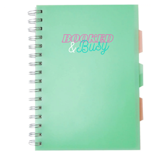 """MINT """"BOOKED & BUSY"""" NOTEPAD"""