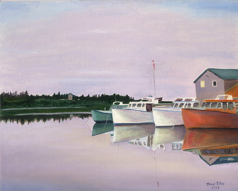 Days End - Fishing Boats in New London