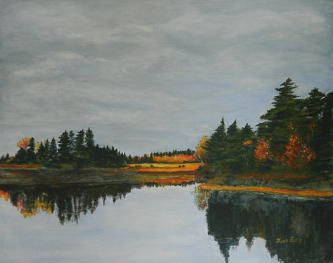 Fall Reflections (original oil painting 16x20)