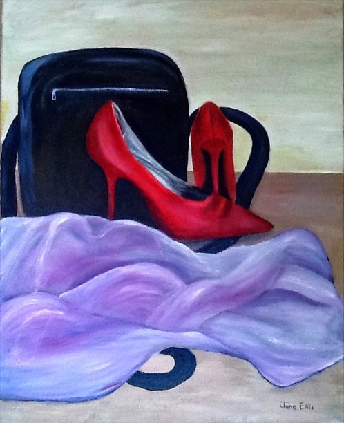 Red Shoes (original acrylic painting 16x20)