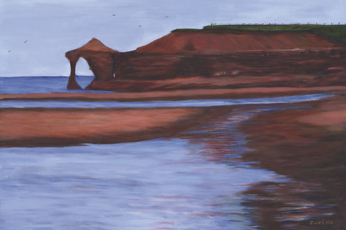 Red Cliffs (original acrylic painting 18x24)