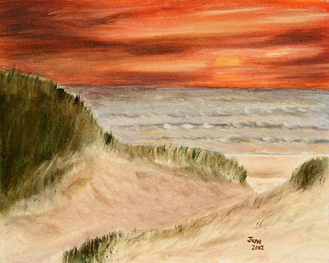 Twin Shores (original oil painting 9x12)