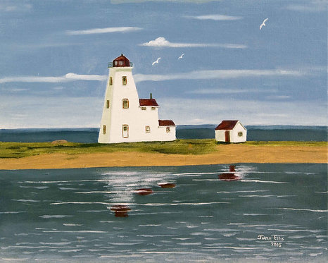 Northport Lighthouse (original oil 11x14)