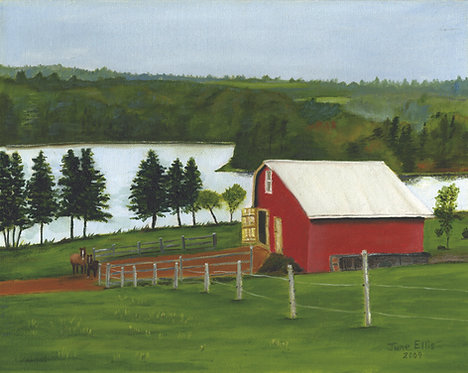 Red Barn (original oil painting 11x14)