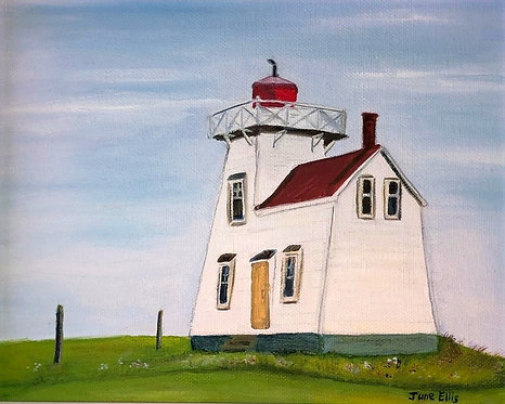 Lighthouse at North Rustico (original oil 8x10)