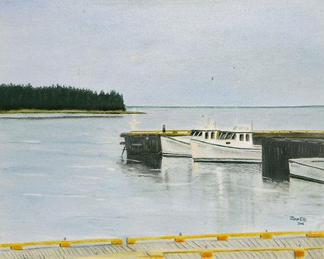 Northport Wharf (original oil painting 11x14)