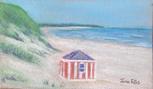 Cabana Cavendish Beach (original acrylic 3.5x5)