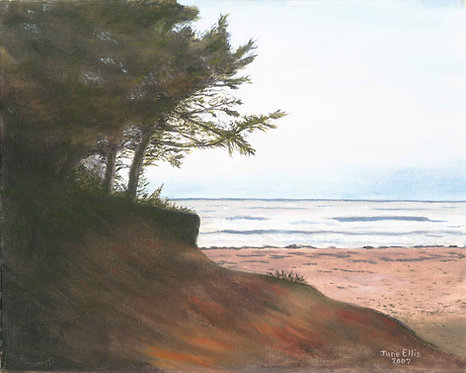 Dusk at Twin Shores (original oil painting 11x14)