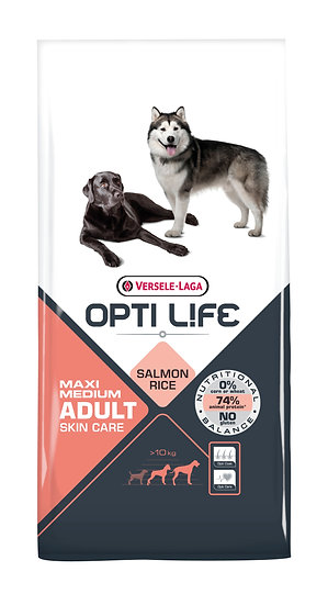 OPTILIFE  - Adult Maxi/Medium Skin Care - Salmon & Rice