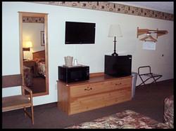 TV Microwave & Fridge in Every Room
