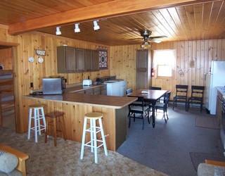 Cabin 2 Kitchen with breakfast bar