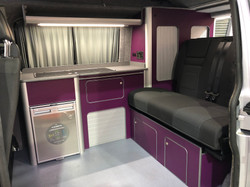 Purple VW Interior