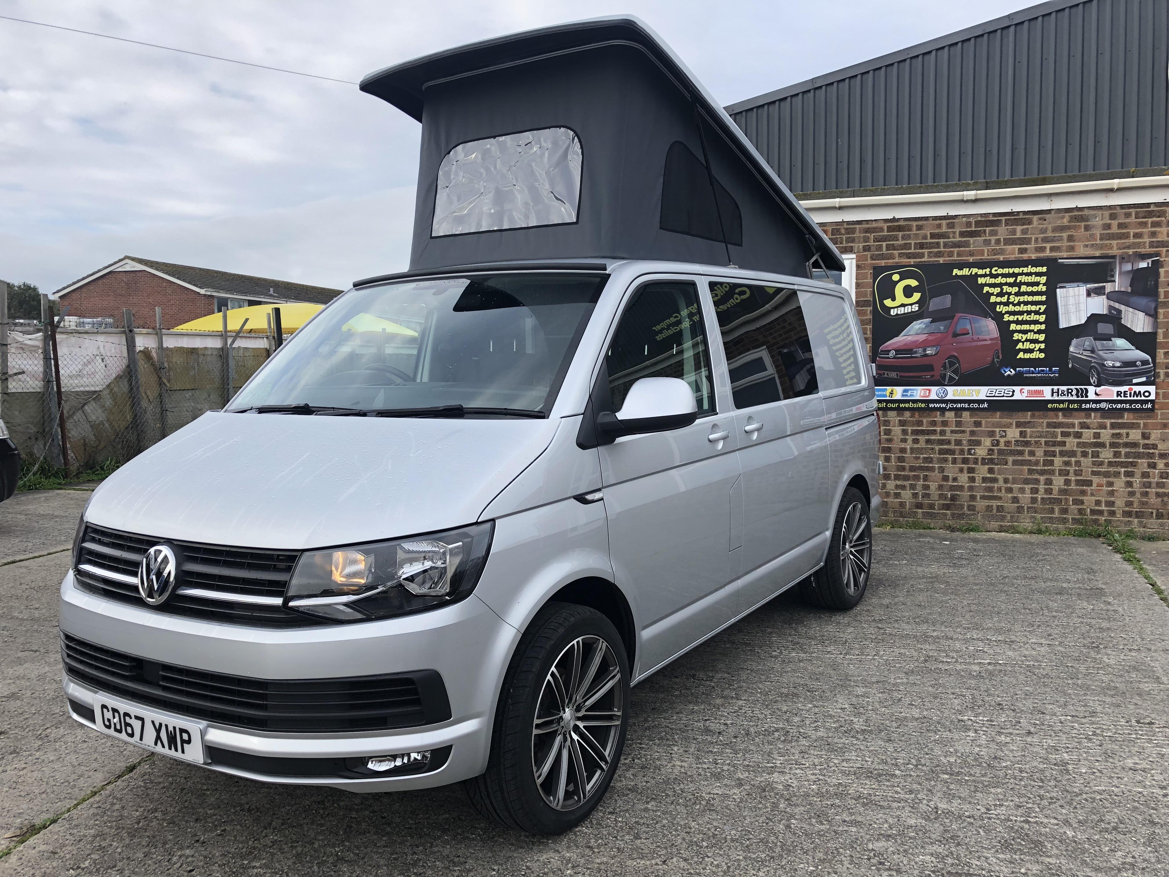 Silver VW T6 Camper