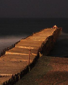 夜の旧桟橋