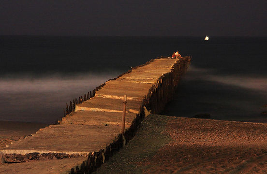 Old Pier at Night