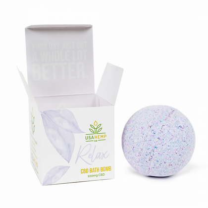 Relax CBD Bath Bombs - Lavender Vanilla (US Hemp Co.)