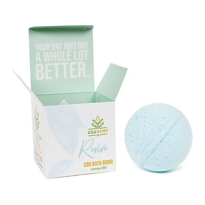 Revive CBD Bath Bombs - Peppermint Menthol (U.S. Hemp Co.)