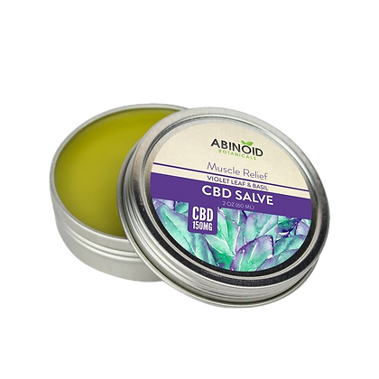 Abinoid CBD Muscle Relief Salve Front View