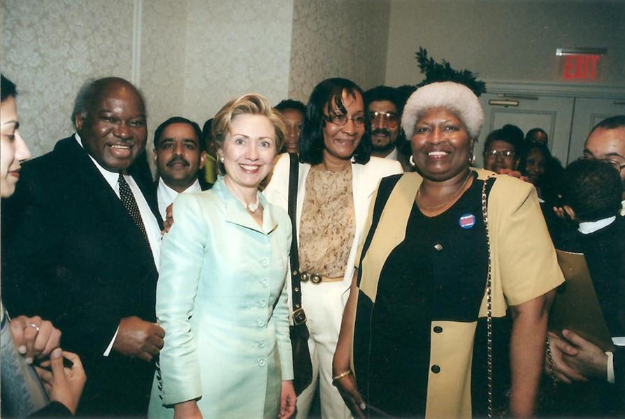 Owens, Hon. Marietta Small, Hon. Jeanette Gadson meet Hon. Hillary Clinton
