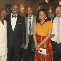 Maurice & Marilyn Reid, long-time associates of Congressman Owens, and P.S. 9 PTA President Raul Rothblatt attended the dedication.
