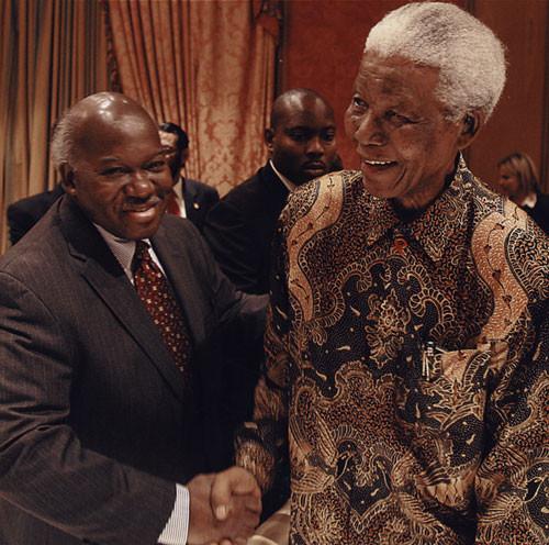 Congressman Owens & Hon. Nelson Mandela