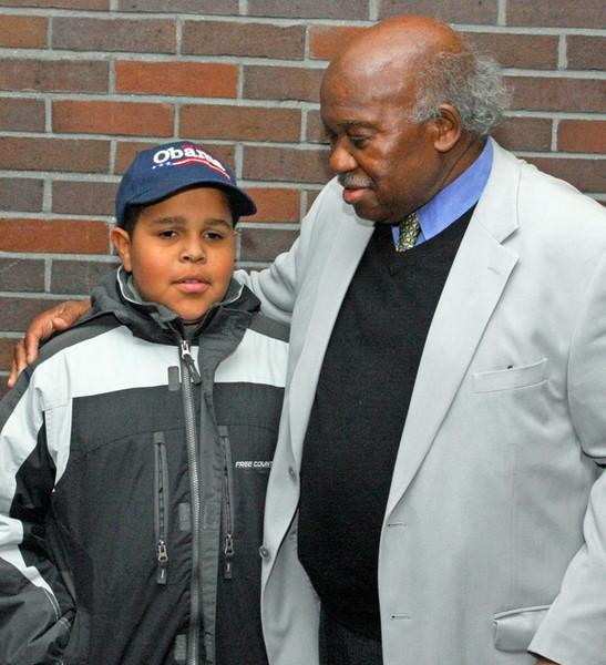 Owens with grandson Elijah Dixon Owens