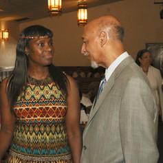 Brooklyn Deputy Borough President Ingrid Martin & Maurice A. Reid, both long-time friends of the late Congressman Major Owens