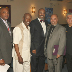 Brooklyn District Attorney Eric Gonzalez joins Chris Owens, Rev. Bloodsaw, Congressman Towns, and USPS