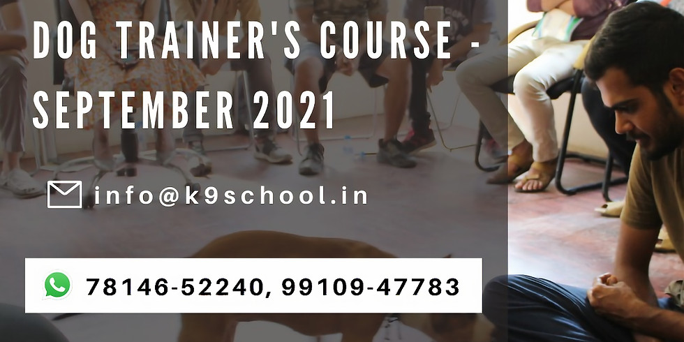 Dog Trainer's Course - Batch 15th