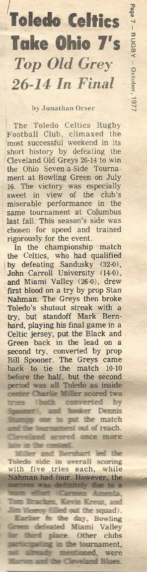 Ohio 7s Champions 1977
