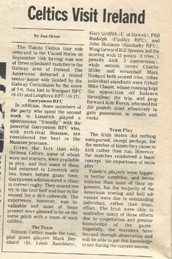 78 Ireland Tour Rugby Magazine