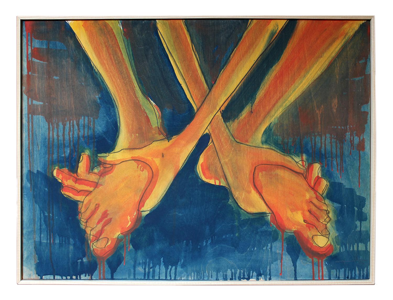 Los pies en las manos