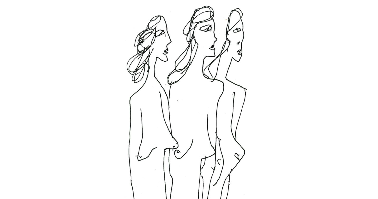 Mujeres Giacometti