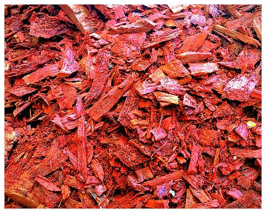 Yard Of Red Mulch