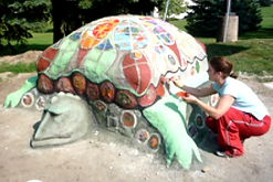 shots of me working on turtle bench_edit