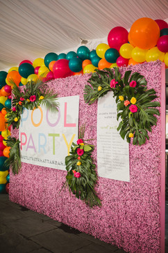 Bold Pool Party Signage