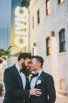 Two Grooms with Boutonnieres