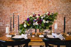 Couple's Moody and Dramatic Sweetheart Table
