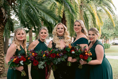 Jewel Tone Bouquet in Bridal Party Portraits