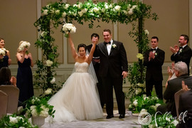 Bride and Groom Celebrate After Vows at Ritz Carlton in New Orleans