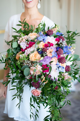 Giant Colorful Bouquet with Cascade