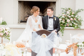 Couple Shares Moment at Traditional Il Mercato Wedding