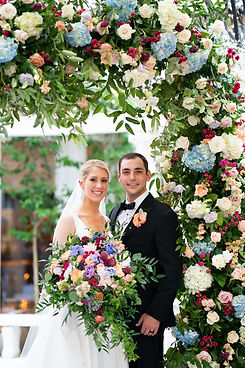 Colorful Bouquet and Floral Arch.jpg