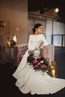 Bridal Portrait with Hoop Bouquet