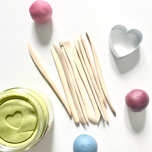 Wooden Playdough Modelling Tools