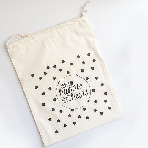 Drawstring printed Calico Bag