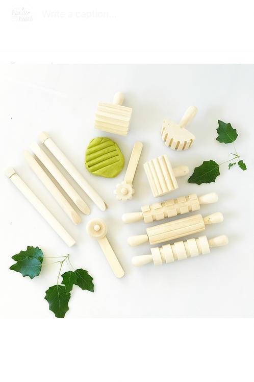 Wooden Playdough Tool Set